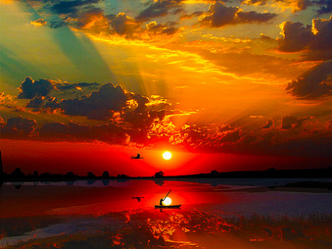 Wonderful sunrise/sunset. . .